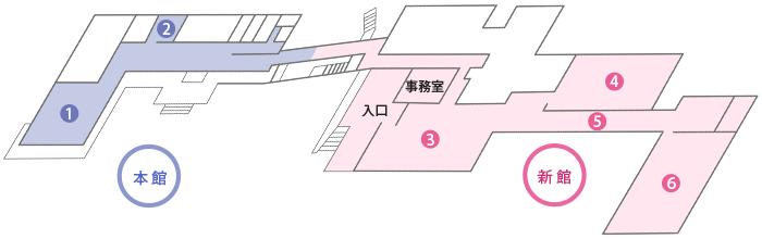 松山文化伝承館 館内図