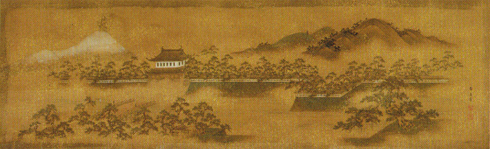 田中静居「松山城遠望図」